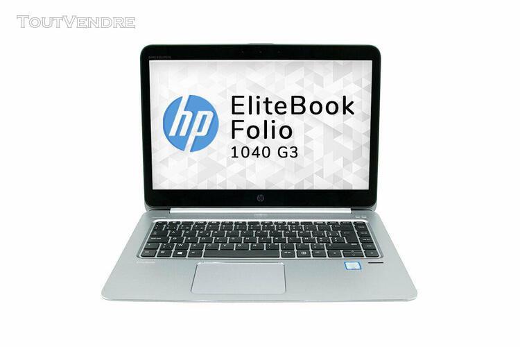 Hp elitebook folio 1040 g3 i5 6300u-8go ram-ssd-w10pro 14″