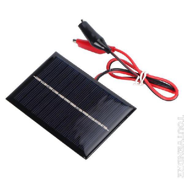 Module de panneau solaire 0.6w 6v chargeur solaire portable