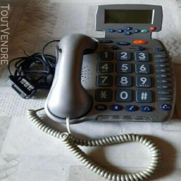 Telephone fixe filaire personnes agees grosses touches + ecr