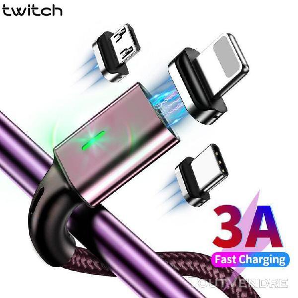 Vin rouge micro usb 1m câble usb micro et magnétique de