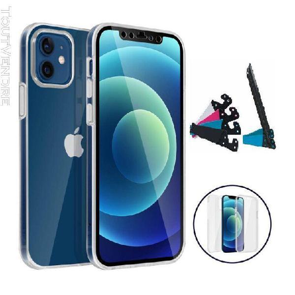 Coque integrale rigide transparent pour iphone 12 mini + 1 s