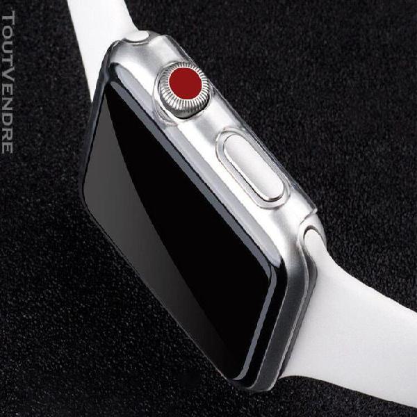 Etui rigide transparent ultra-mince pour apple watch series