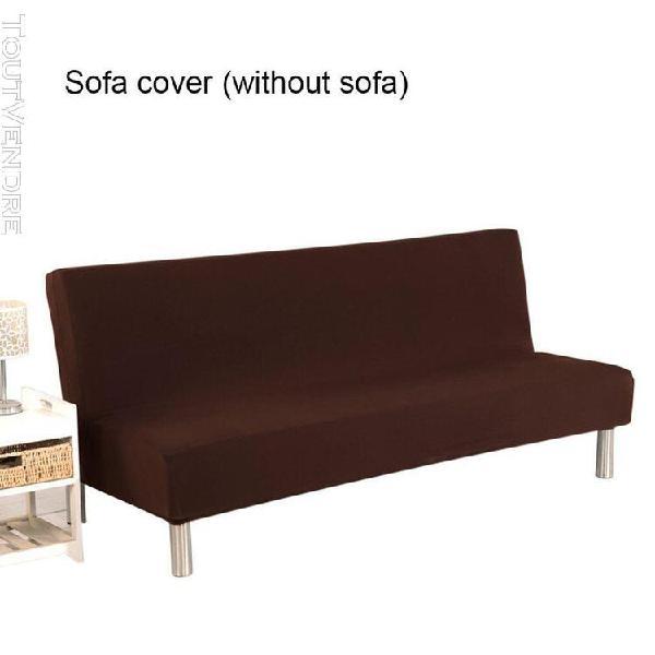 Tout compris chauffeuse futon couvre petit brun durable non