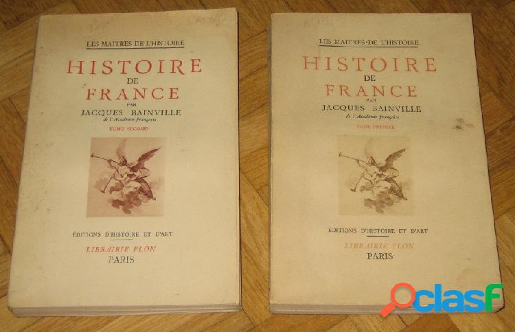 Histoire de france, jacques bainville