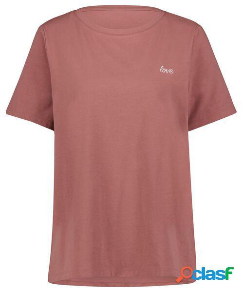 Hema t-shirt femme love rose (rose)