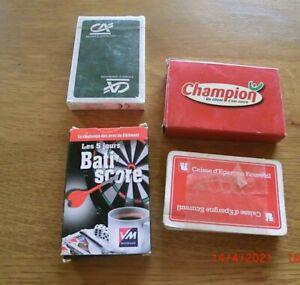 Lot de 4 jeux de cartes publicitaires neuf