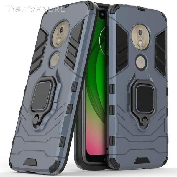 Moto g7 play coque, anneau support telephone voiture magneti