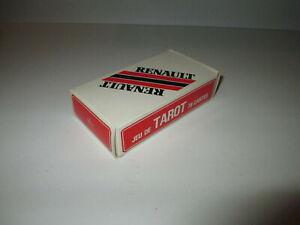 Rare ancien jeu de tarot 78 cartes a jouer pub renault par