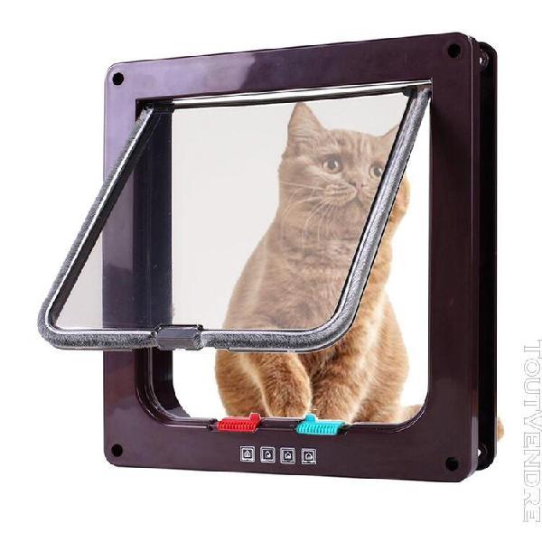 Pet porte pour chats et chiens 4-way verrouillage extra larg
