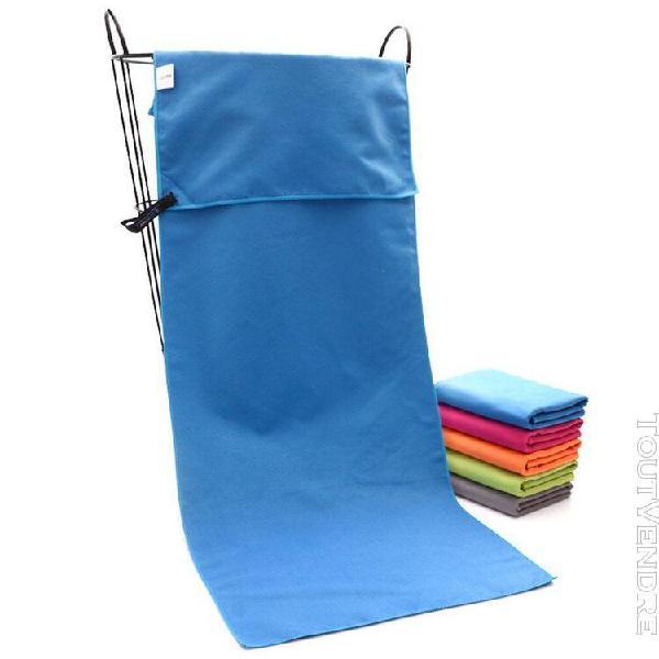 Sports serviette de plage bleu polaire microfibre serviette