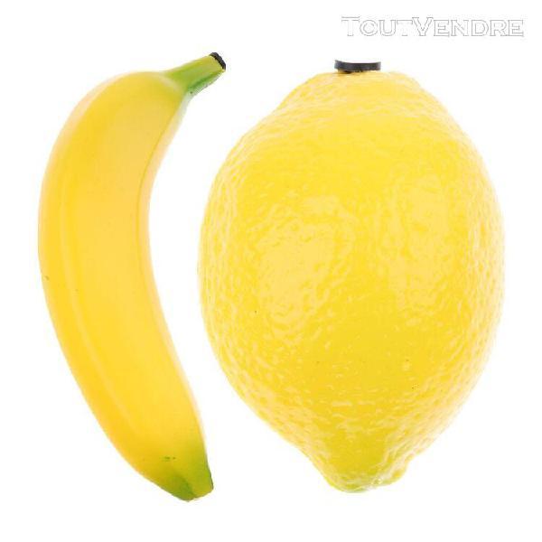 2x shakers de fruits jeux plastique tambours aisselle à