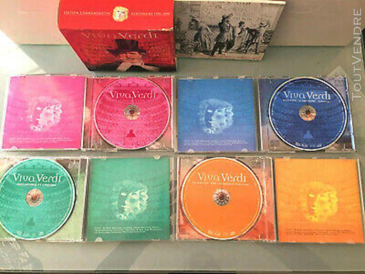 Compact disc audio coffret 4 cd viva verdi edition commemora