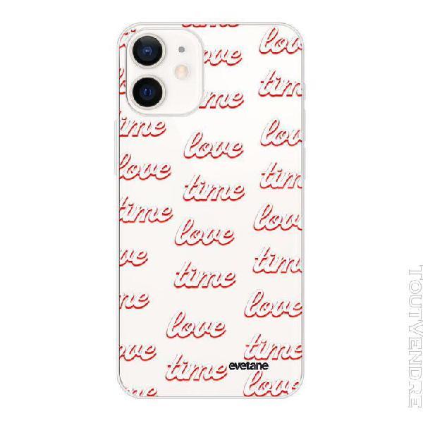 Coque iphone 12 mini 360 intégrale transparente love time