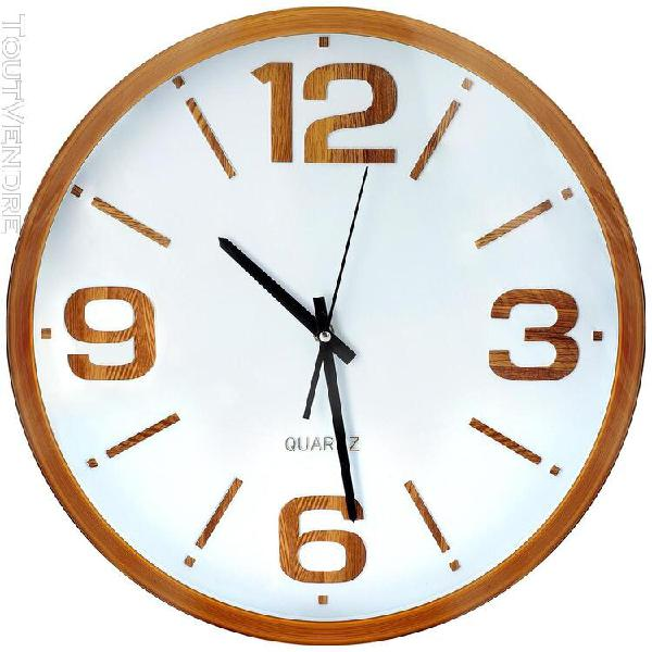 Horloge murale en bois, ronde - 40 cm
