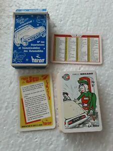 Jeux cartes les 7 familles.cartes heron. citroën ds.