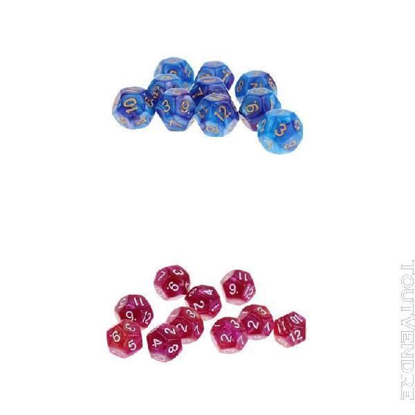 20pcs acrylique opaque 12 dés dés polyédriques d12 pour