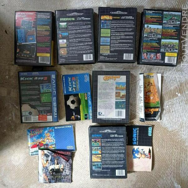 7 boîtes vides jeux mégadrive