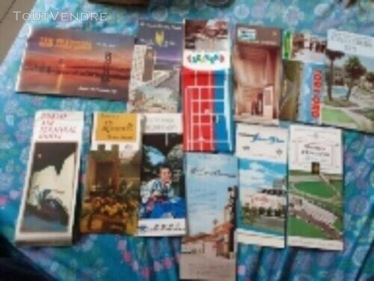 Brochure carte resto hôtel vintage,et étiquettes vins