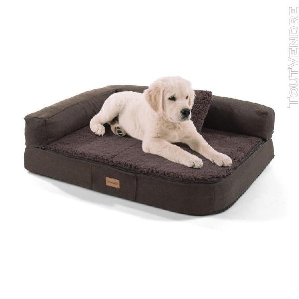 Canapé pour chien - brunolie odin, lavable, orthopédique