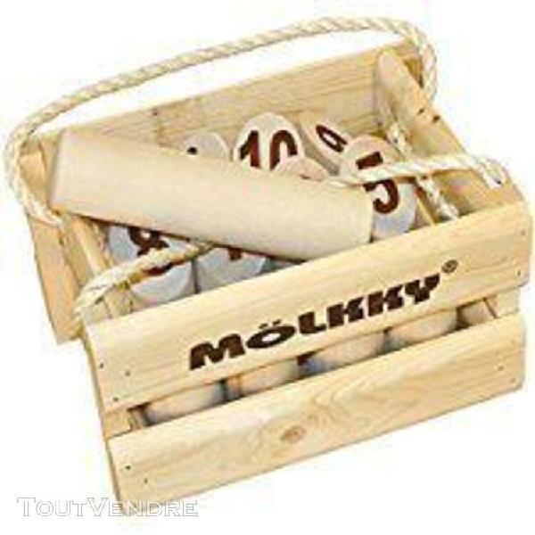 Mölkky origine dans une caisse en bois (big size)