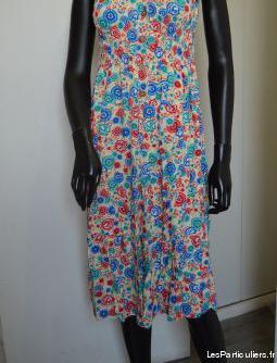 Robe imprimée multicolore taille xxxl