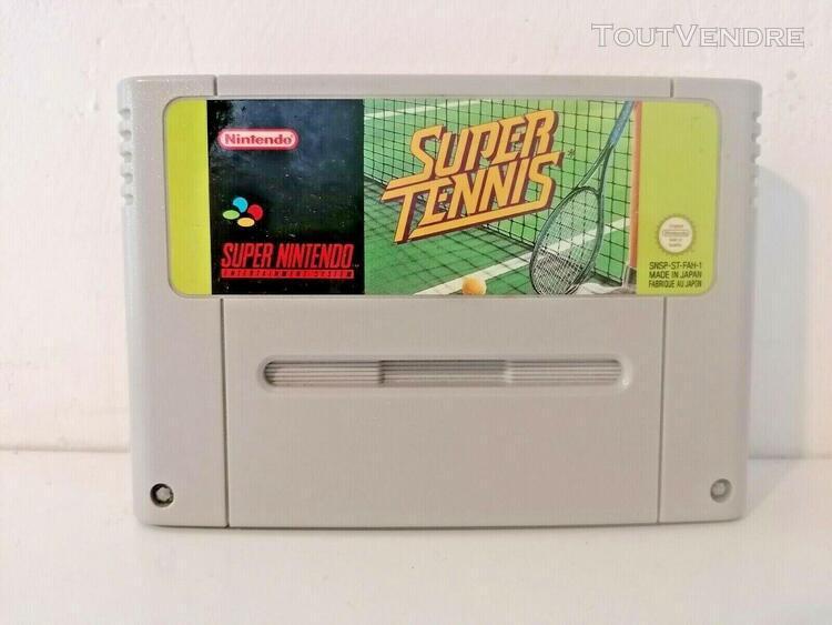 Super tennis jeu super nintend snes nintendo pal fah envoie