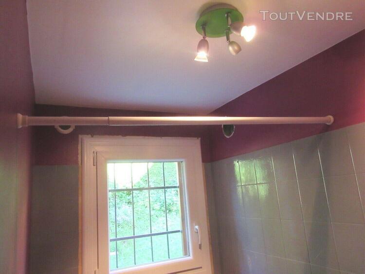 Tringle à rideau de douche - télescopique / extensible
