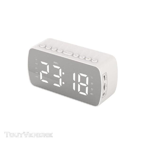 Haut-parleurs bluetooth petite alarme maison blanche 1400mah
