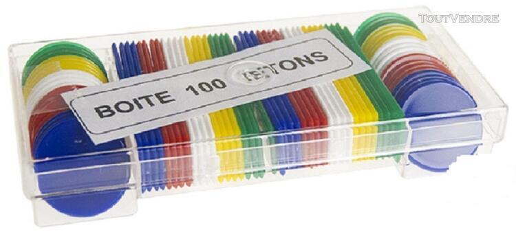 100 jetons plastique pour jeu de carte