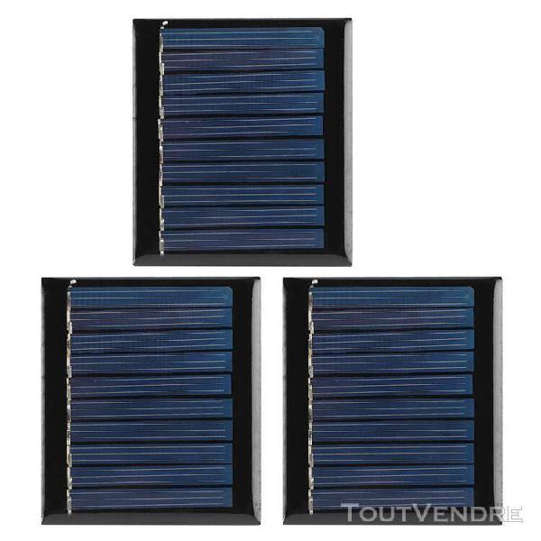 3pcs/set 0.3w 5v mini module de panneau solaire en silicium