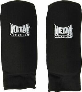 Metal boxe - proteges avant bras tissu mousse noir m,