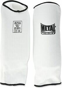 Metal boxe - proteges avant bras tissu mousse noir m, blanc