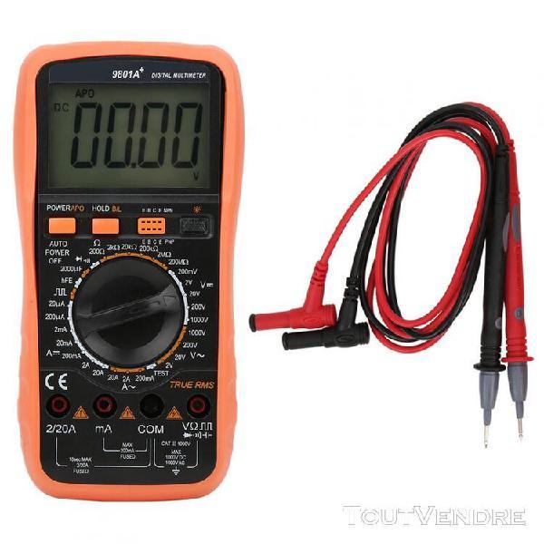 Vc9801a vrai rms ac dc manuel multimètre numérique testeur