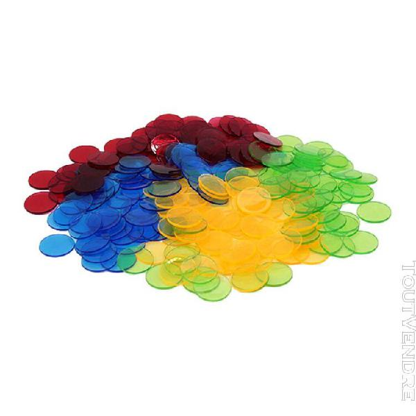 Ffityle jetons de bingo transparents en plastique de 2,5 cm,