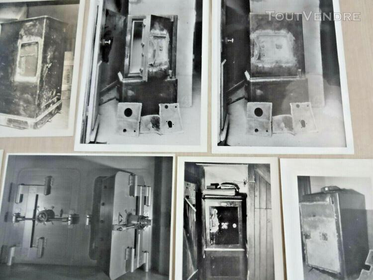 Coffre fort fichet rare photos 20's 1930 banque effraction f