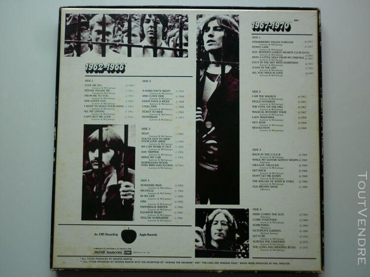 The beatles coffret quatre 33tours vinyles 1962-1966 / 1967-