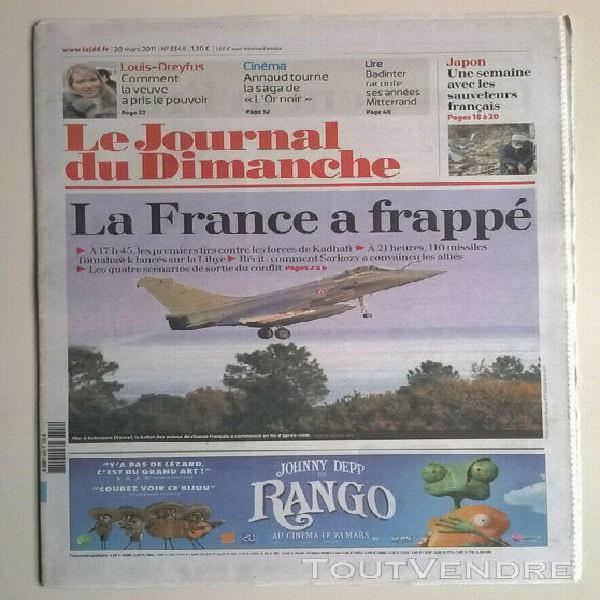 Le journal du dimanche n°3349 du 20/03/2011 -la france