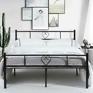 Lit double cadre de lit en métal, lit fer forgé avec