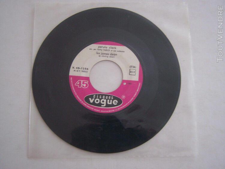 Sp vinyle 45 tours, petula clark, les james dean, juke bo