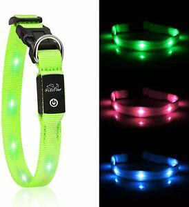 Collier chien lumineux led clignotant rechargeable usb