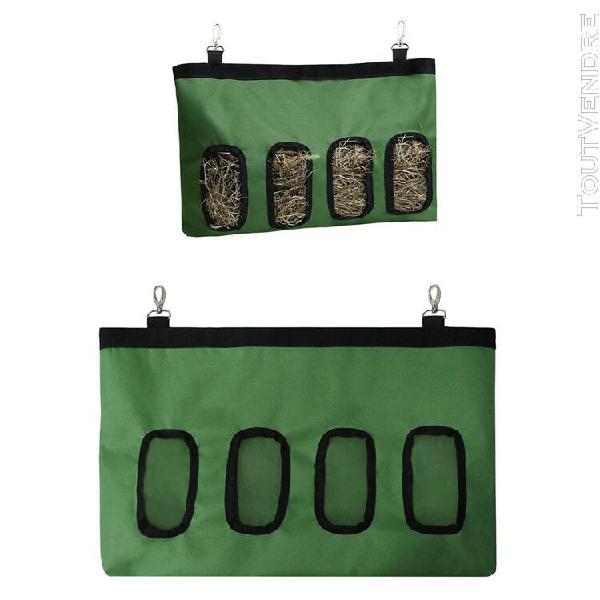 Durable foin poche sac d'alimentation avec 4 trous d'aliment