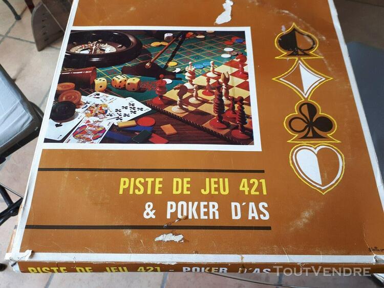 Ancien jeux de piste 421 et poker d'as, dans sa boite