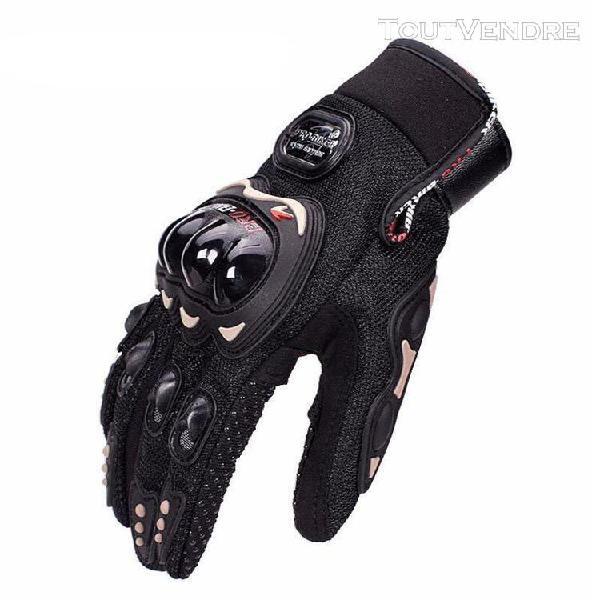 Gants moto homme mi saison doigts complet anti glisse avec p
