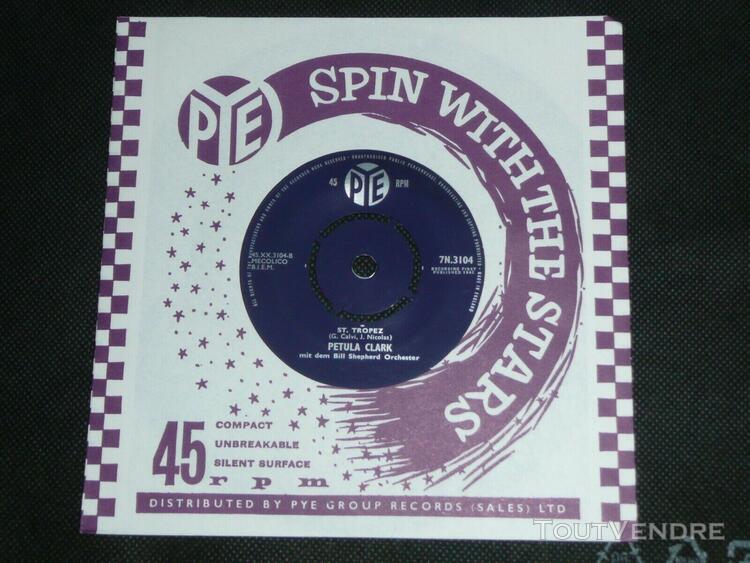 Petula clark juke box pye 1961 chante en allemand