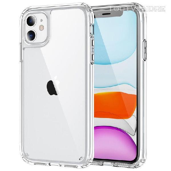 Etui rigide transparent pour iphone, couverture arrière