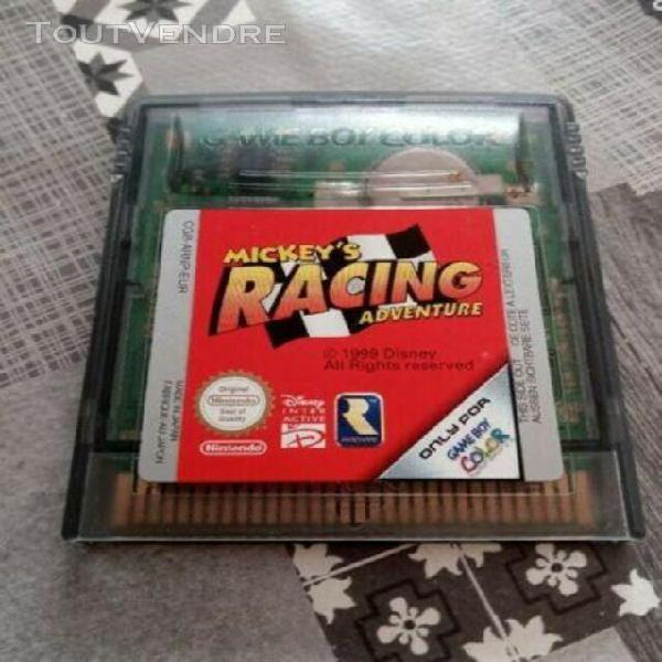 Jeux game boy color mickey racing aventure