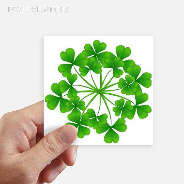 Trèfle à quatre feuilles circle irlande st.patrick est