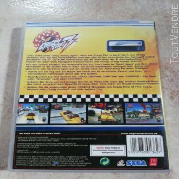 Jeux vidéo crazy taxi 3 - jeux pc sega - bon état (langue