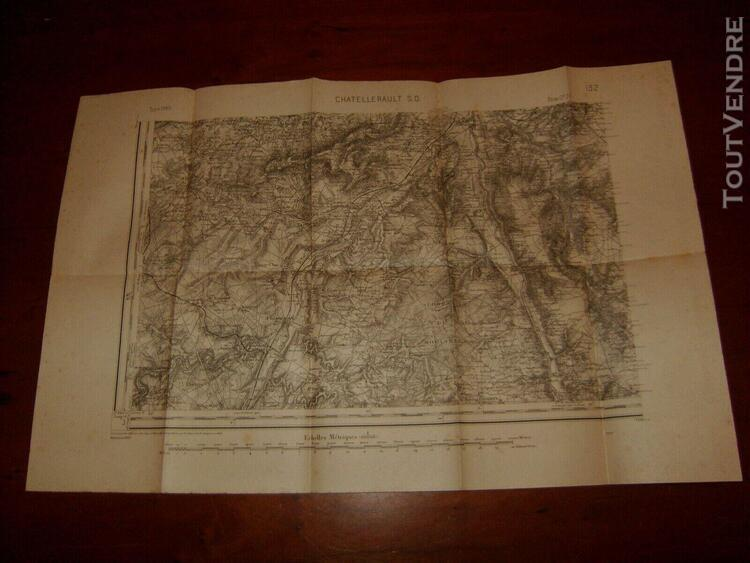 Carte ancienne chatellerault s. o. type 1889