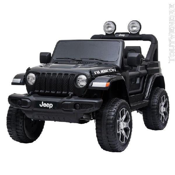 Voiture électrique jeep - noire